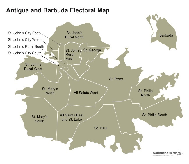 Antigua And Barbuda Election St Johns Rural South - Blank us map with antigua
