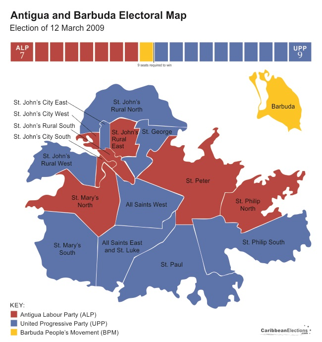 Antigua and Barbuda General Election Results 2009