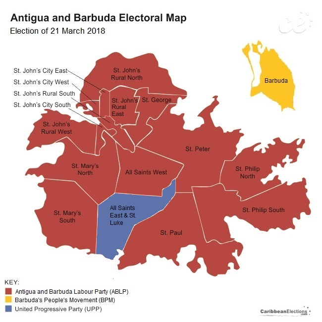 Antigua and Barbuda General Election Results 2018
