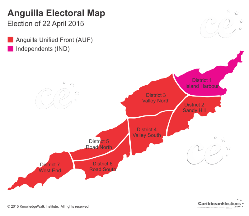 Anguilla General Election Results 2015 - 2015-us-election-results-map