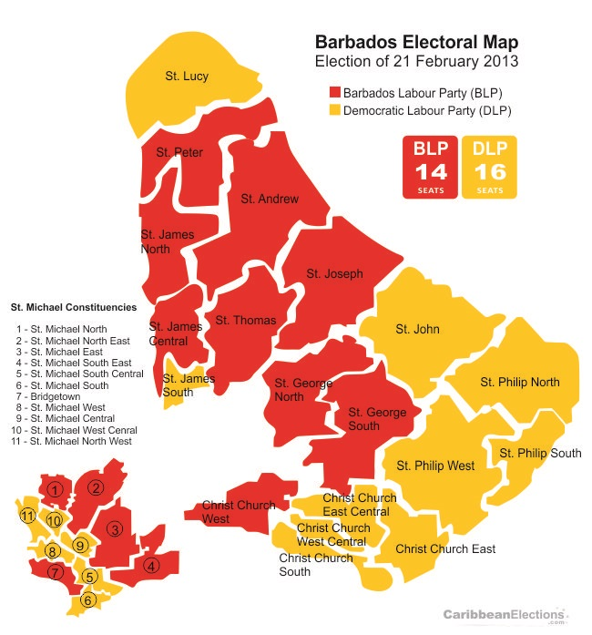 Barbados Election Centre  Constituencies