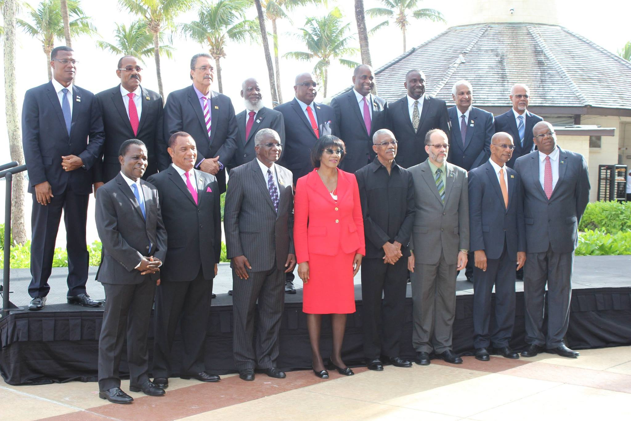 The official photograph of Heads of Government at the 36th Meeting of the Conference of Heads of Government of CARICOM