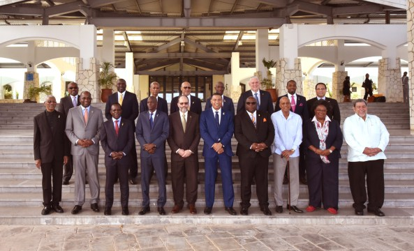 Official Photo of heads of state attending the 39th Regular Meeting of the Conference of Heads of Government of the Caribbean Community (CARICOM), July 4-6, 2018 at Montego Bay Conference Centre.