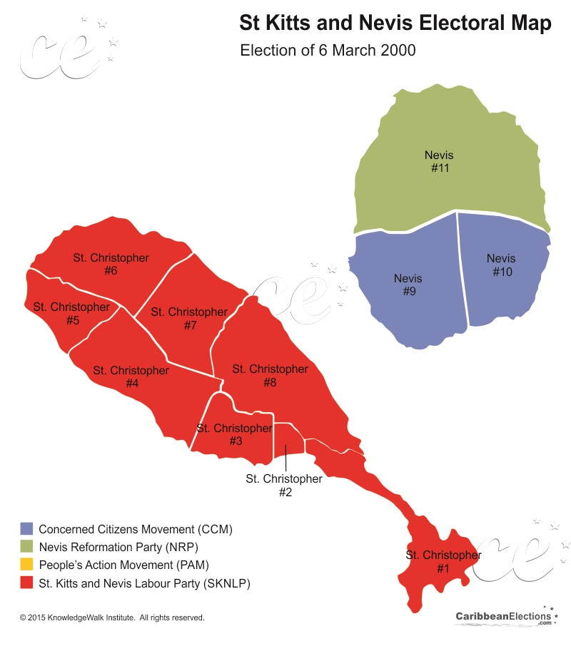 St Kitts and Nevis General Election Results 2000