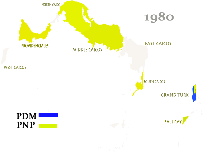 Turks and Caicos Islands General Election Results 1980